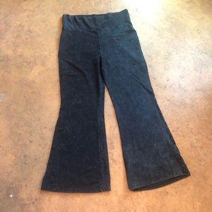 Zenana Black Flare Pant Stretch Lounge Wide Leg 3X